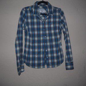 Aeropostale plaid button down stretch shirt